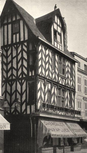Associate Product CHARENTE-MARITIME. La Rochelle- Vieille maison 1904 old antique print picture