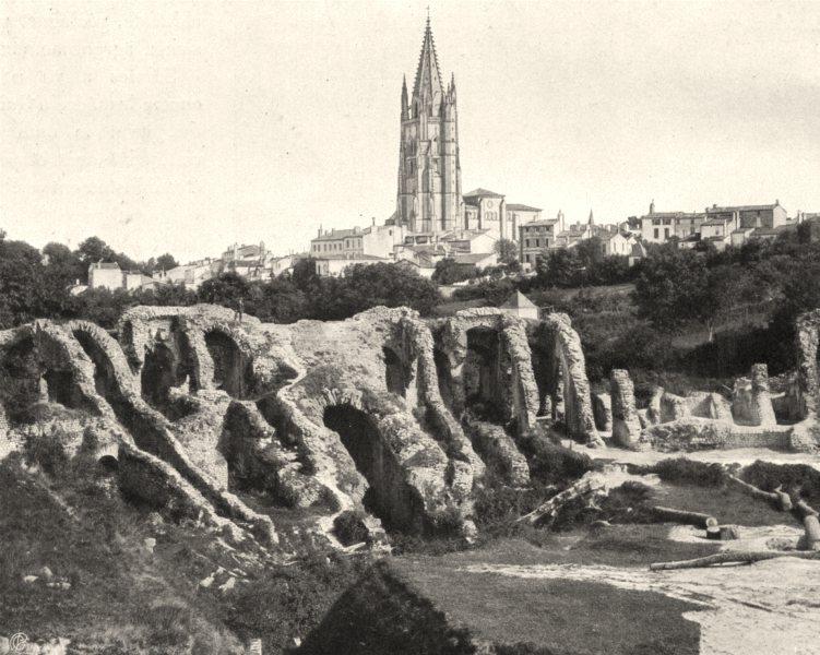 CHARENTE-MARITIME. Saintes-Les arènes 1904 old antique vintage print picture