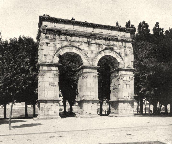 Associate Product CHARENTE-MARITIME. Saintes-Arc de Germanicus 1904 old antique print picture