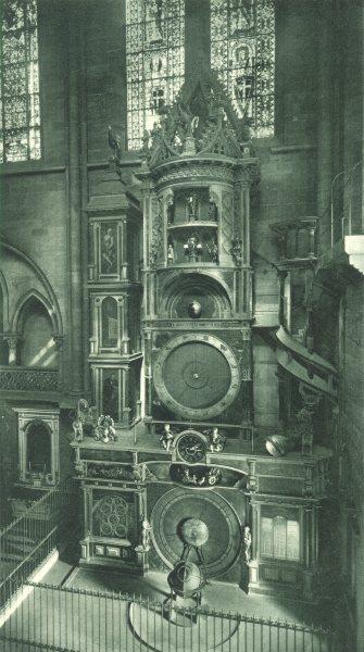 Associate Product BAS-RHIN. Strasbourg- Horloge de la Cathedrale 1929 old vintage print picture