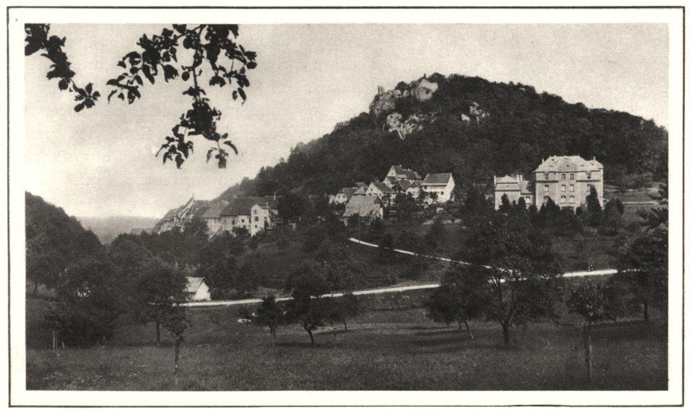 Associate Product HAUT-RHIN. Ferrette 1929 old vintage print picture
