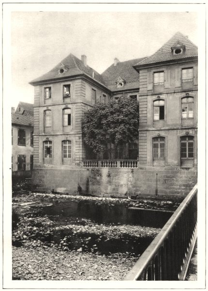 Associate Product HAUT-RHIN. Masevaux. Cour du Chaptire des Dames Nobles 1929 old vintage print
