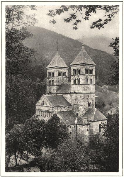 Associate Product HAUT-RHIN. L'Abbaye de Murbach 1929 old vintage print picture