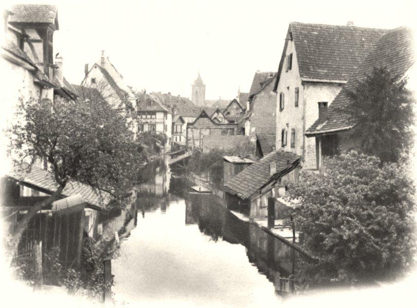 Associate Product HAUT-RHIN. Colmar au Pont Saint-Pierre. SMALL. 1929 old vintage print picture
