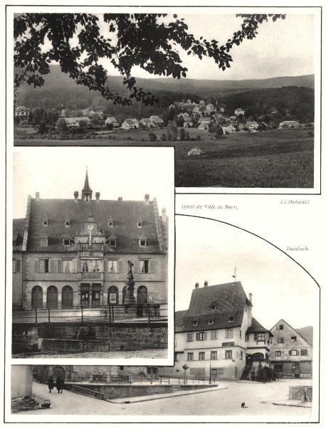 Associate Product BAS-RHIN. Hôtel de Ville de Barry; Le Hohwald; Dambach 1929 old vintage print