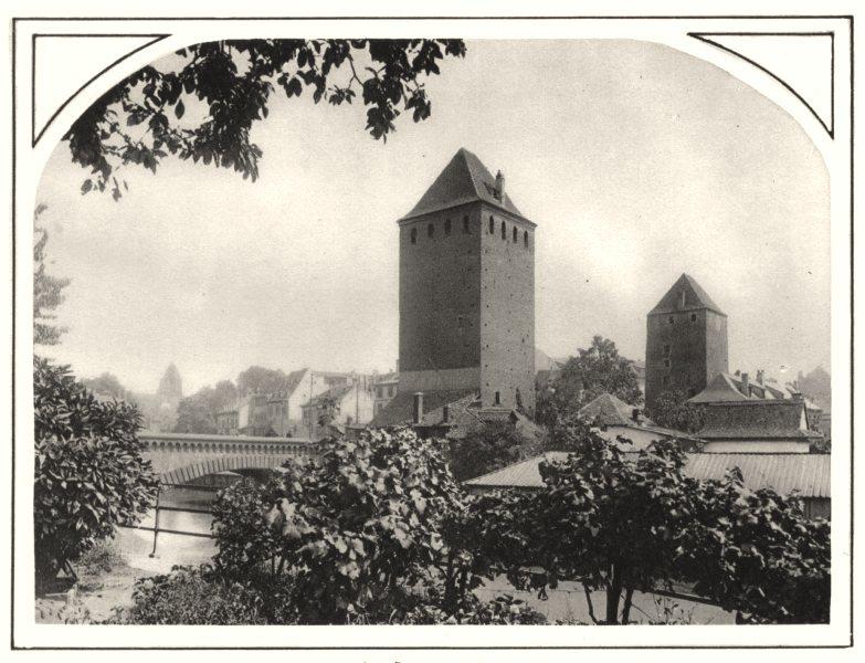 Associate Product BAS-RHIN. Aux Ponts couverts 1929 old vintage print picture