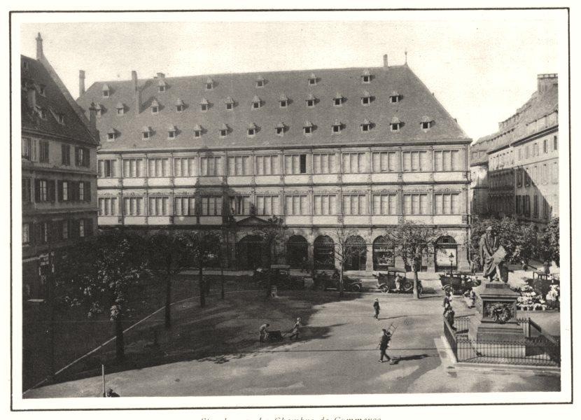 Associate Product BAS-RHIN. Strasbourg. La Chambre de Commerce 1929 old vintage print picture