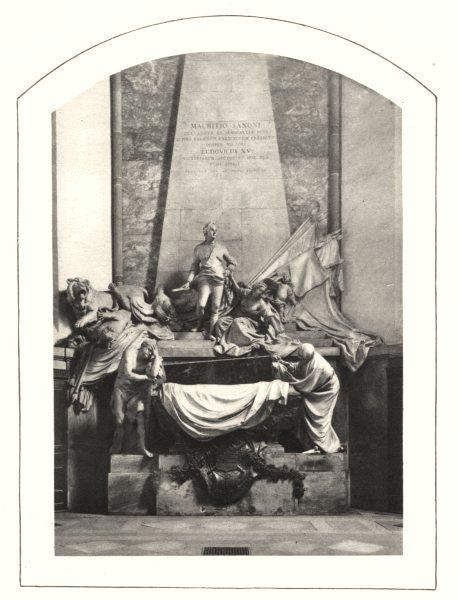 Associate Product BAS-RHIN. Tombeau du Maréchal de Sachsen (Saxony Saxe)  1929 old vintage print