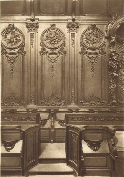 Associate Product BAS-RHIN. Stalles de L'Eglise Saint-Niclolas a Haguenau 1929 old vintage print