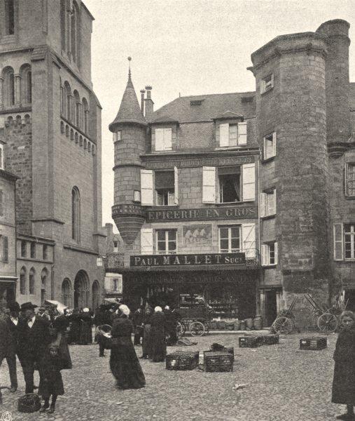 Associate Product CORRÈZE. Brive- Vieille maison 1904 old antique vintage print picture
