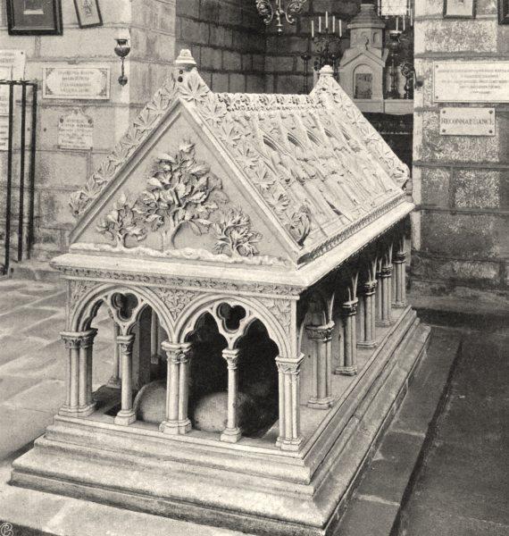 CORRÈZE. Aubazine- Tombeau de Saint-Étienne 1904 old antique print picture