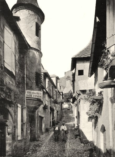 Associate Product CORRÈZE. Turenne- Rue du Château 1904 old antique vintage print picture