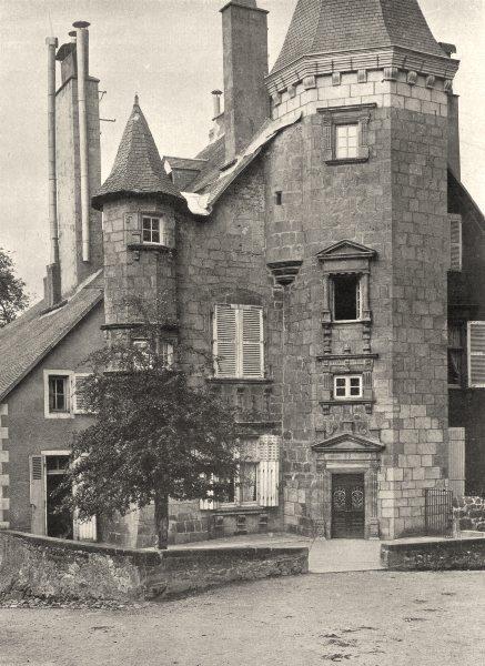 Associate Product CORRÈZE. Ussel- Hôtel de Ventadour 1904 old antique vintage print picture