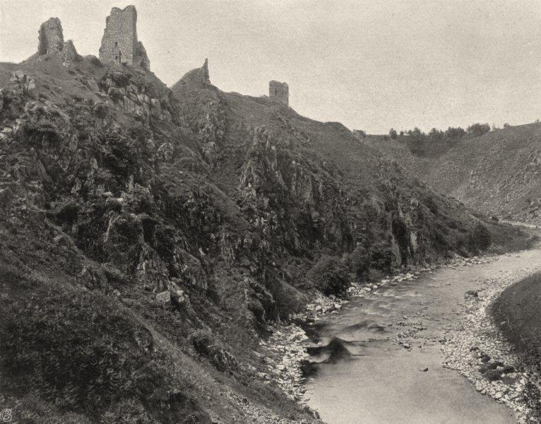 Associate Product CREUSE. Crozant- Ruines du château 1904 old antique vintage print picture