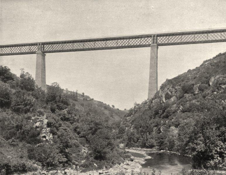 Associate Product CREUSE. Viaduc de la Tardes 1904 old antique vintage print picture