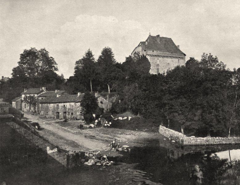 CREUSE. Pontarion 1904 old antique vintage print picture