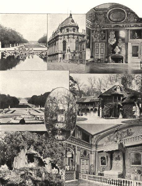 Associate Product YVELINES. Char embourbé- Salon Oeil- Boeuf- Tapis- vert- Petit Trianon 1902