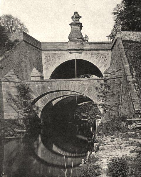 ESSONNE. Les Belles- Fontaines, à Juvisy 1902 old antique print picture