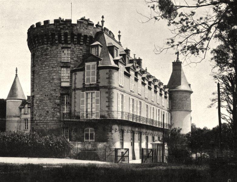 Associate Product YVELINES. Château de Rambouillet 1902 old antique vintage print picture