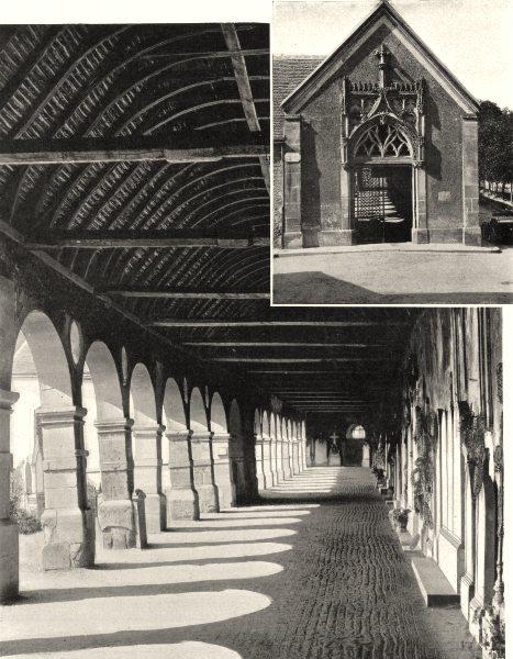 Associate Product YVELINES. Le cimetière et la porte du cloitre de Montfort- I'Amaury.  1902