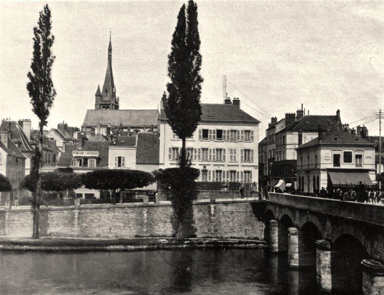 Associate Product SEINE-ET-MARNE. Vue générale de Melun 1902 old antique vintage print picture