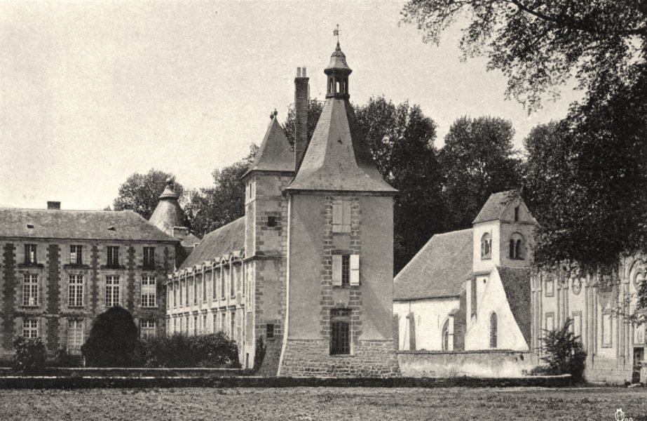 Associate Product SEINE-ET-MARNE. Le Château de Fleury-en-Bière 1902 old antique print picture