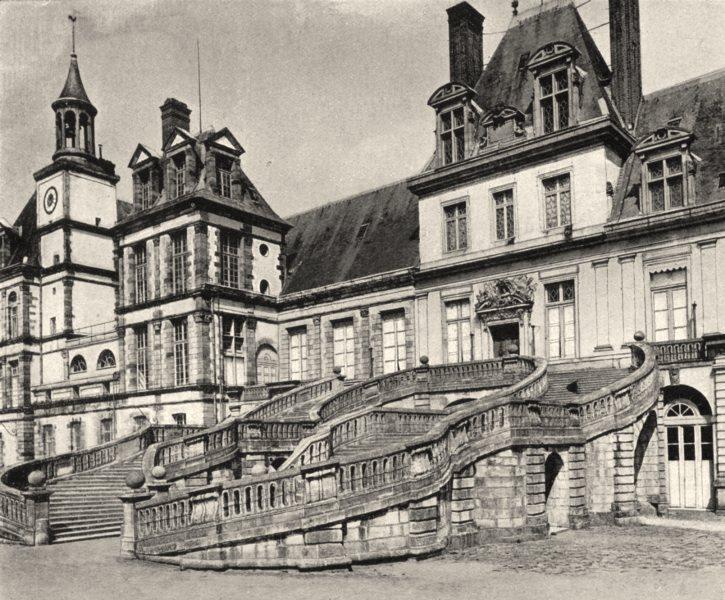 Associate Product SEINE-ET-MARNE. L'escalier du Fer- à- Cheval 1902 old antique print picture