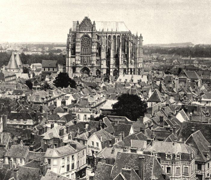 Associate Product OISE. Vue générale de Beauvais 1902 old antique vintage print picture