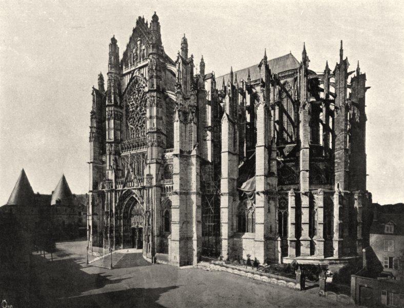 Associate Product OISE. La cathédrale de Beauvais 1902 old antique vintage print picture