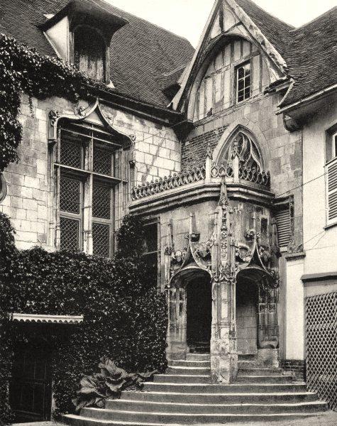 Associate Product OISE. La maison de la rue de I'Abbé- Gelée, à Beauvais 1902 old antique print