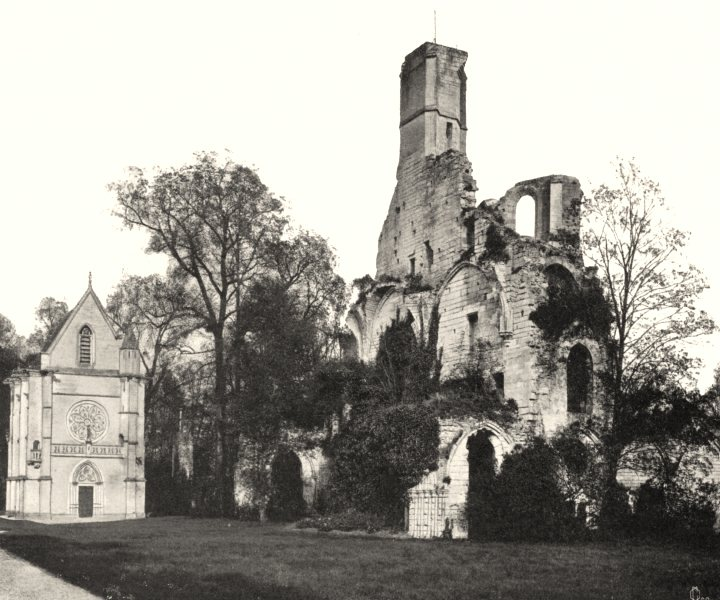 Associate Product OISE. L'abbaye de Chaâlis 1902 old antique vintage print picture