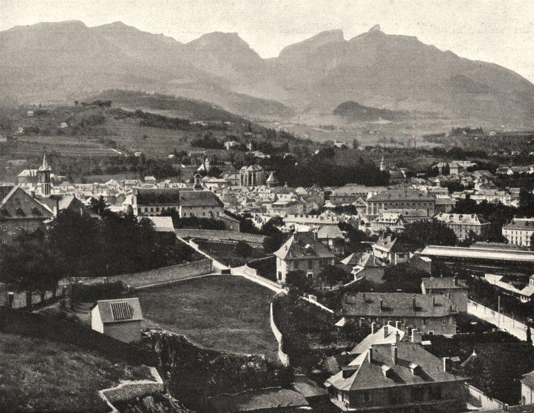 Associate Product SAVOIE. Vue générale de Chambéry (269 mètres d'altitude) .  1903 old print