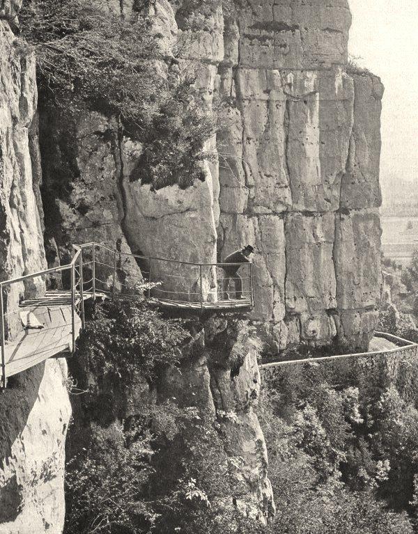 Associate Product SAVOIE. Sortie de la grotte des Échelles 1903 old antique print picture