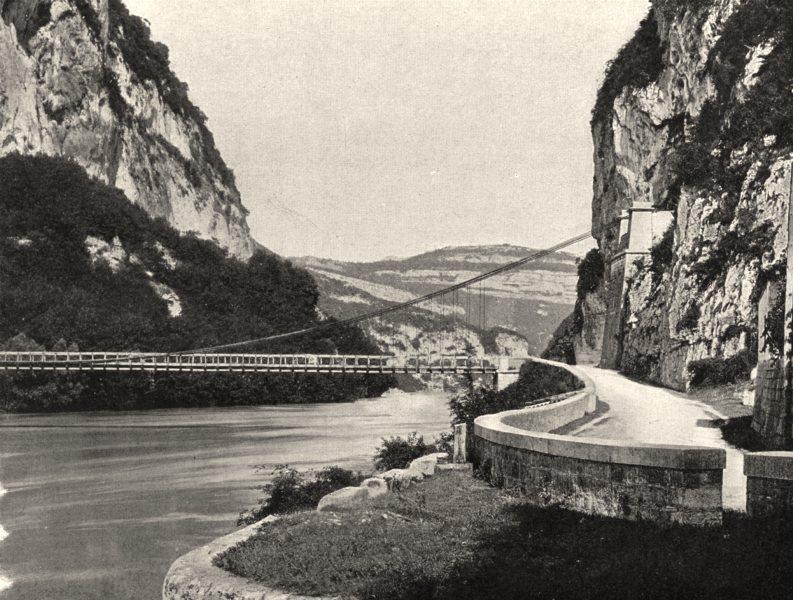 Associate Product SAVOIE. Le pont de Pierre- Châtel 1903 old antique vintage print picture