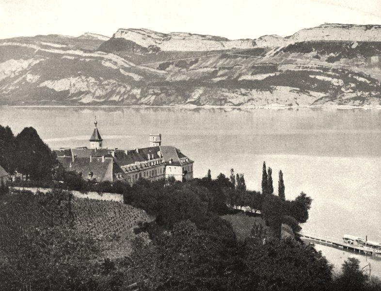 Associate Product SAVOIE. Abbaye de Haute-Combe 1903 old antique vintage print picture