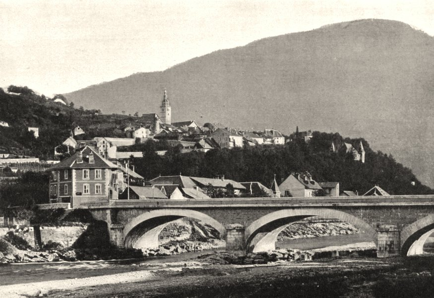 Associate Product SAVOIE. Albertville, vue de Conflans (422 mètres d'altitude)  1903 old print