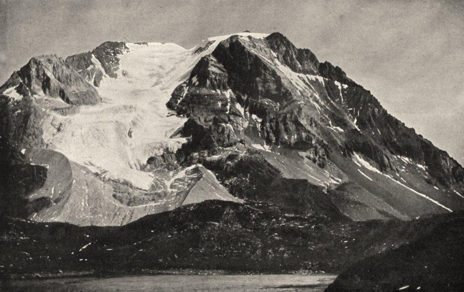 Associate Product SAVOIE. La Grande Casse (3, 861 mètres d'altitude)  1903 old antique print