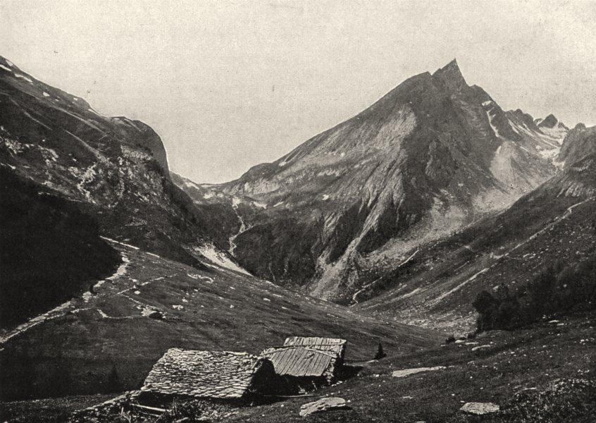 Associate Product SAVOIE. L'aiguille du Doran (3, 049 mètres d'altitude)  1903 old antique print