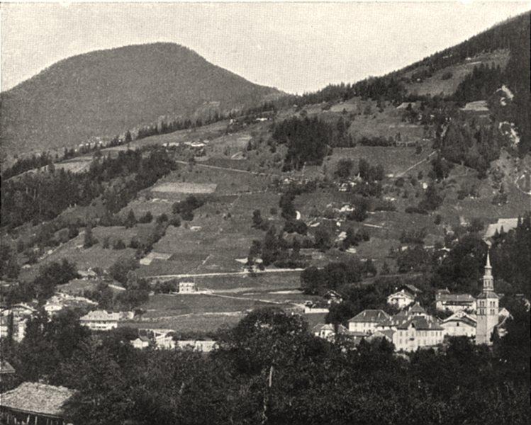 Associate Product HAUTE-SAVOIE. Saint-Gervais (817 mètres d'altitude) . SMALL. 1903 old print
