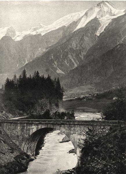 Associate Product HAUTE-SAVOIE. Le Pont Sainte-Marie 1903 old antique vintage print picture