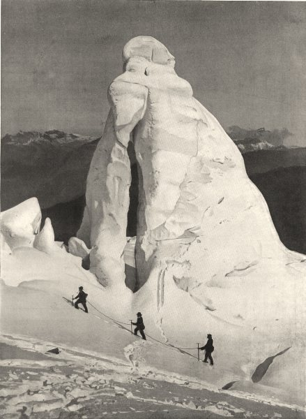 Associate Product HAUTE-SAVOIE. Pyramide de glace 1903 old antique vintage print picture