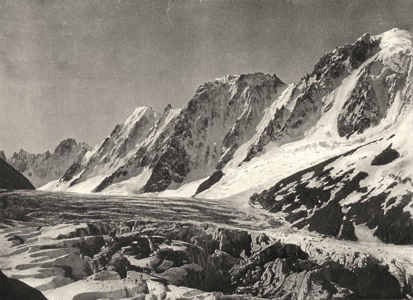 Associate Product HAUTE-SAVOIE. Glacier d'Argentière et chaîne de I'aiguille Verte 1903 print