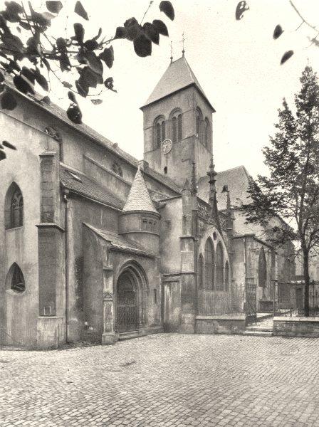 Associate Product MOSELLE. Saint-Eucaire 1937 old vintage print picture