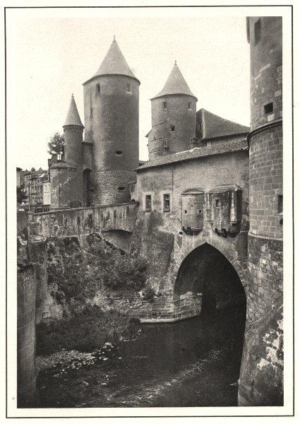 Associate Product MOSELLE. Porte des Allemands (Extérieur)  1937 old vintage print picture