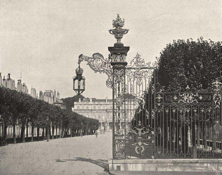 Associate Product MEURTHE-ET-MOSELLE. Nancy- Grilles de Jean Lamour 1906 old antique print