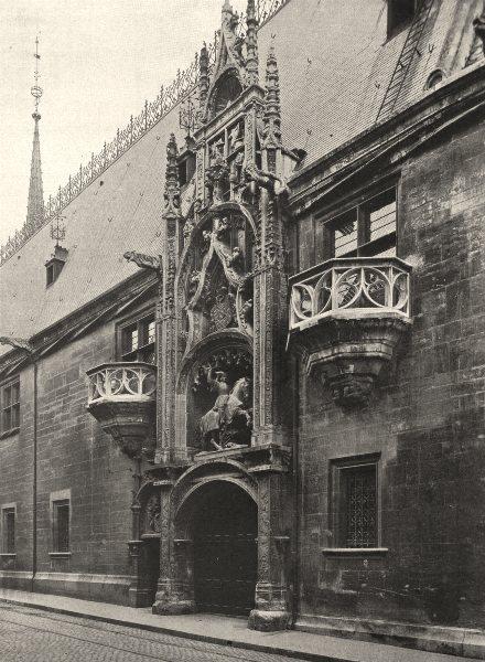 Associate Product MEURTHE-ET-MOSELLE. Nancy- Porte du Palais Ducal 1906 old antique print