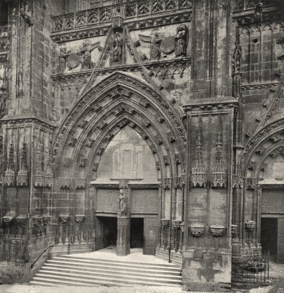Associate Product MEURTHE-ET-MOSELLE. Saint-Nicolas-DU-Port-Portail de I'église 1906 old print