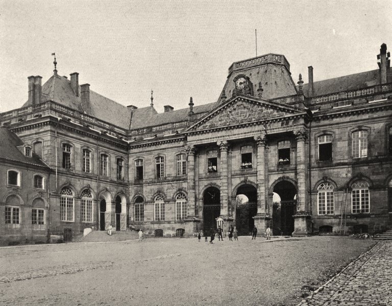 Associate Product MEURTHE-ET-MOSELLE. Lunéville- Château 1906 old antique vintage print picture