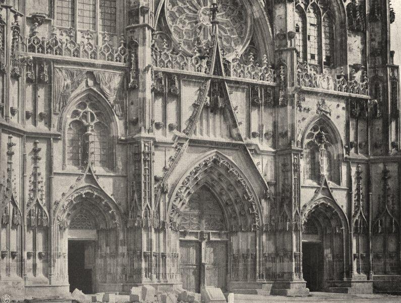 MEURTHE-ET-MOSELLE. Toul- Portail de la Cathédrale 1906 old antique print