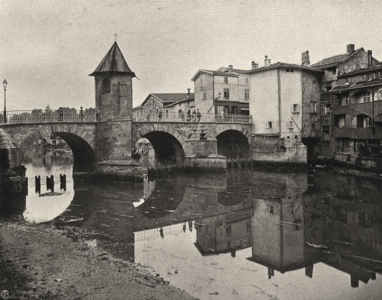 Associate Product MEUSE. Bar-le-duc- Vieux pont 1906 old antique vintage print picture